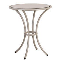 Cordial Bistro Table - Beige with Sand Top