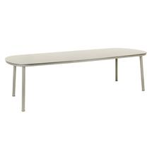 Cordial 270cm Dining Table - Beige with Sand Top