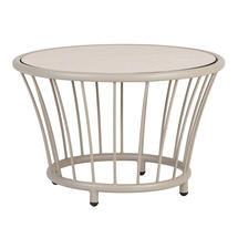 Cordial Side Table - Beige with Sand Top