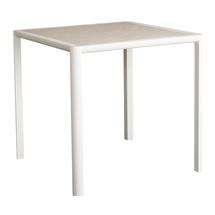 Fresco  Square Dining Table - Shell with Sand Top