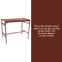Luxembourg High Bar Table - Red Ochre