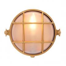 Small Round Bulkhead - Brass