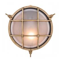 Large Round Bulkhead - Brass