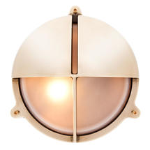 Large Bulkhead with Split Shade - Brass