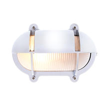 Small Oval Bulkhead with Shade - Chrome