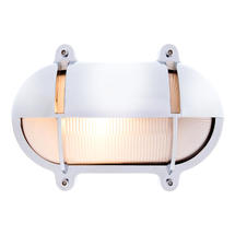 Large Oval Bulkhead with Shade - Chrome