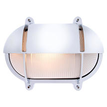 Extra Large Oval Bulkhead with Shade - Chrome