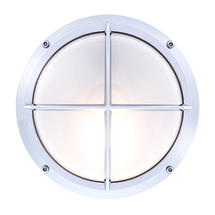 Round Bulkhead with Cross Grille - Chrome