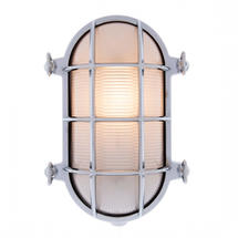 Large Bulkhead Wall Light - Chrome
