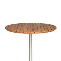 Antibes Teak 110cm Round Slatted Top w/parasol hole
