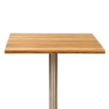 Antibes Teak Slatted Square Top with Parasol Hole - 70cm