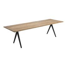 Split Raw 280cm Dining Table - Natural Teak with Contour Edge