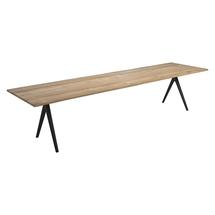 Split Raw 350cm Dining Table - Natural Teak with Contour Edge