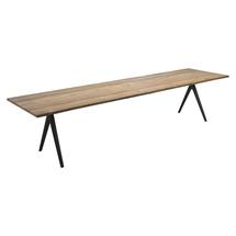 Split Raw 350cm Dining Table - Natural Teak with Sapwood Edge