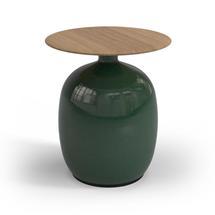 Blow Low Side Table Buffed Teak Top - Emerald