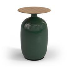 Blow High Side Table Buffed Teak Top - Emerald