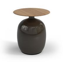 Blow  Low Side Table Buffed Teak Top - Coffee