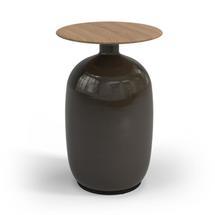 Blow High Side Table Buffed Teak Top - Coffee