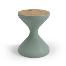 Bells Side Table Buffed Teak - Sage