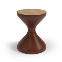 Bells Side Table Buffed Teak - Brick