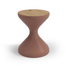 Bells Side Table Buffed Teak - Terracotta