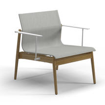 Sway Teak Lounge Chair White / Seagull Sling