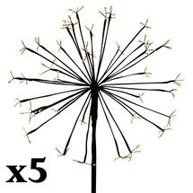 Set of 5 Solar Dandelion Light - 144 LED Large