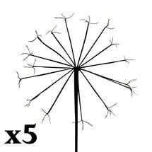 Set of 5 Solar Dandelion Light - 64 LED Small