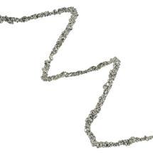 Silver Glitter Beaded Garland