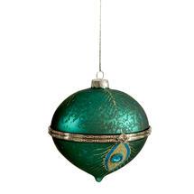 Opulent Peacock Trinket Bauble