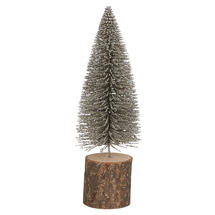 Silver Dusted Bottle Brush Fir Tree - Medium
