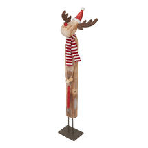 Rustic Red Wooden Reindeer
