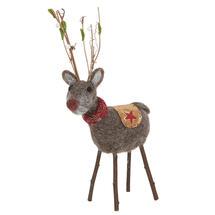 Festive Forest Felt Reindeer with Scarf