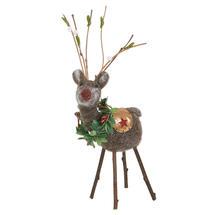 Festive Forest Felt Reindeer with Wreath
