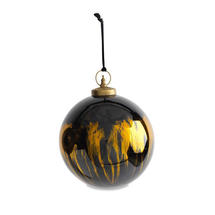 Giant Black lustre Glass Baubles - Large