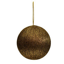Bronze Metallic Spun Thread Bauble