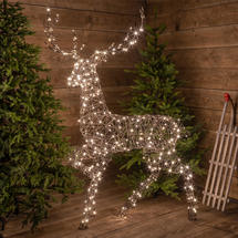 Wicker LED Standing Reindeer 1.9M