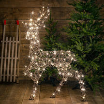 Wicker LED Standing Stag 1.4m