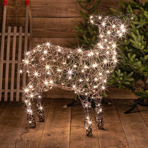 Wicker Standing LED Sheep - 140 LED