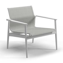 180 Stacking Lounge Chair with Aluminium Arms - White/Seagull