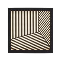 Maze Square Straight Lines Light - Black