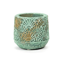 Verdigris Gilt Art Deco Pot - X-Small