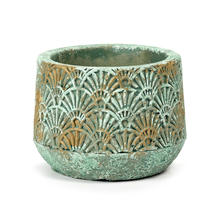 Verdigris Gilt Art Deco Pot - Small