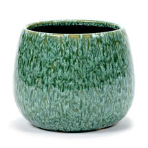 Glazed Seagrass Green Pot - Large