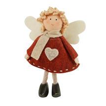 Red Standing Felt Angel - Shirley