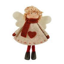 Taupe Standing Felt Angel - Sandra