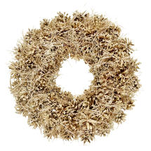 Gold Pine Cone Natural Wreath