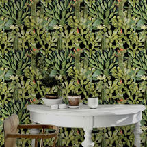 Wallpaper Opuntia anthracite