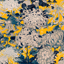 Wallpaper Chrysathemums Yellow