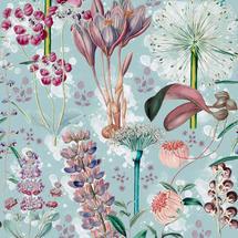 Wallpaper Garden Of Eden Aquamarine